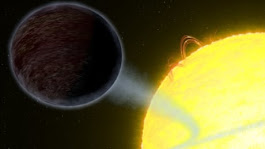 Astronomers discover pitch-black planet orbiting distant star