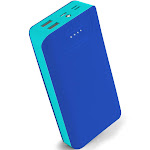 Aduro PowerUp Trio 20,000 mAh SmartCharge Dual USB Backup Battery Blue
