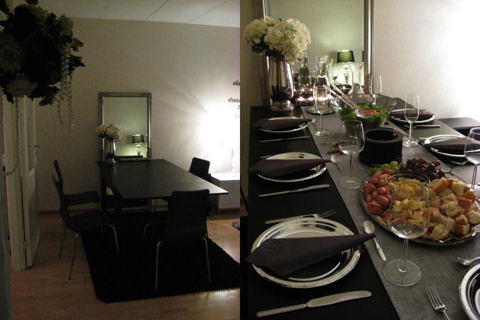 Ruokapöytä muutti olohuoneeseen