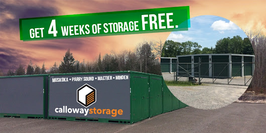 Here's a Special Offer from our Sister Company Calloway Storage - Exclusive to Budget Propane Customers