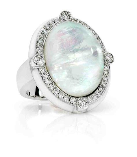 Mother Of Pearl Engagement Ring   Wedding and Bridal