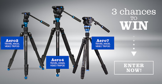 Win 1 of 3 Benro Aero Tripods - Total Prize Value over $1,000!