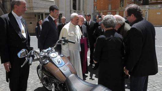 The Pope Is Selling His Harley. Yep, He's Got a Harley