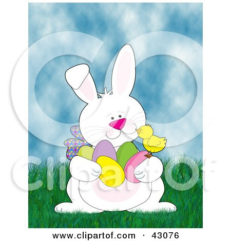easter bunnies and eggs. easter bunnies and eggs and