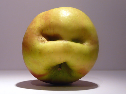 Apple face upside down