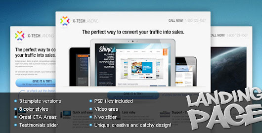 Themeforest - X-Tech Landing Page