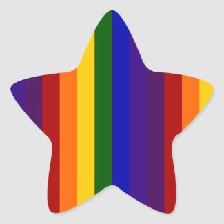 Rainbow Stripes Star Stickers