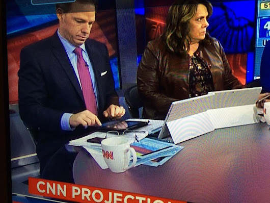 CNN used Surface tablets as iPad kickstands