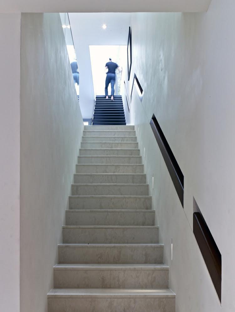 Main courante escalier- encastrée, éclairante et autres idées