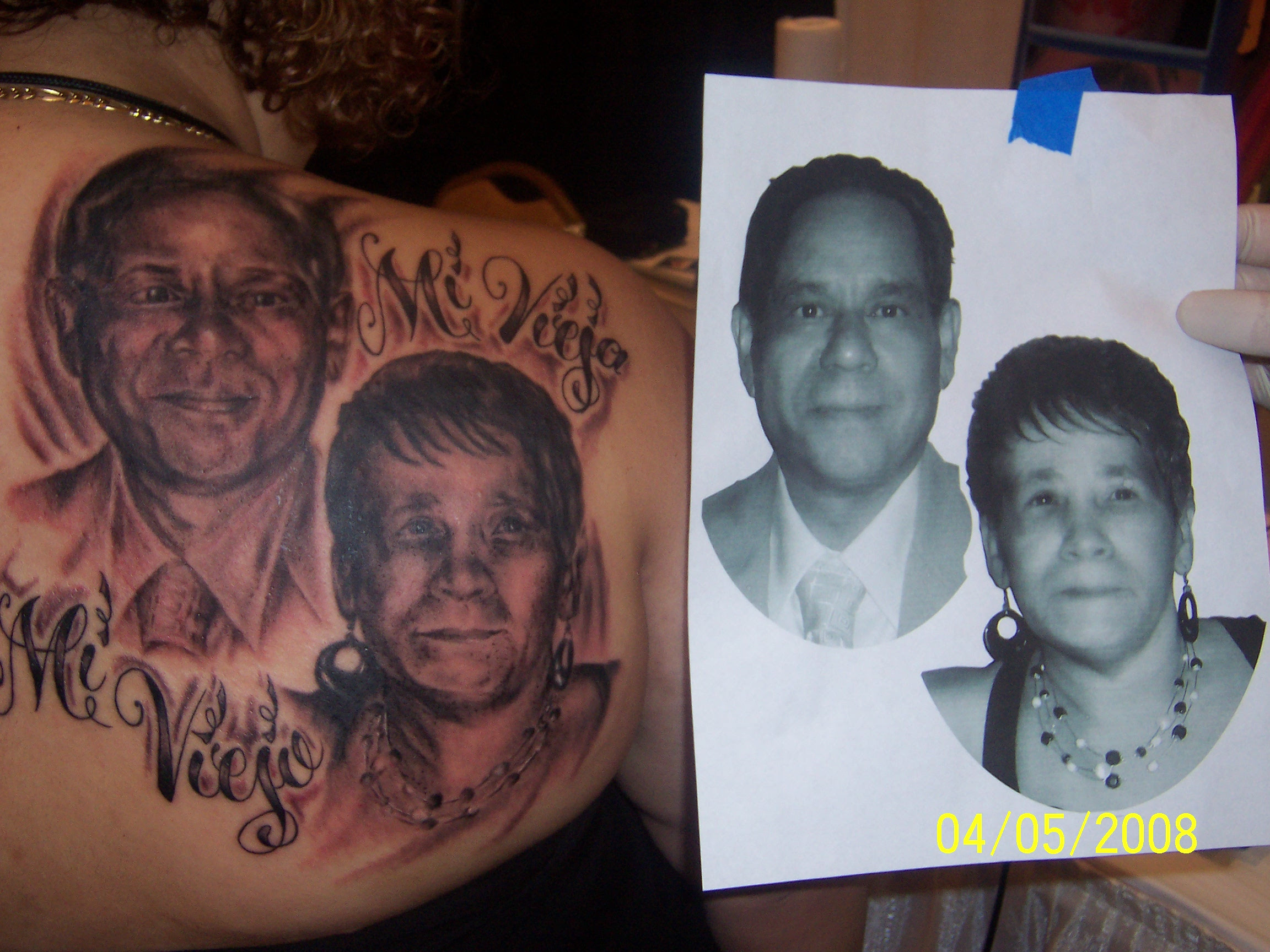 Mom And Dad Tattoo Picture