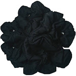 Cotton Scrunchies (Black), 10 piece Pack