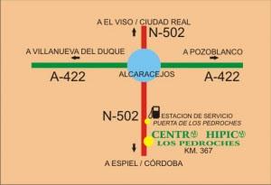 """en las instalaciones de HÍPICA LOS PEDROCHES DE"""" YEGUADA YASMINA"""" en la localidad cordobesa de ALCARACEJOS"""