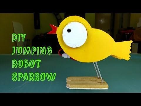DIY cute jumping robot sparrow.
