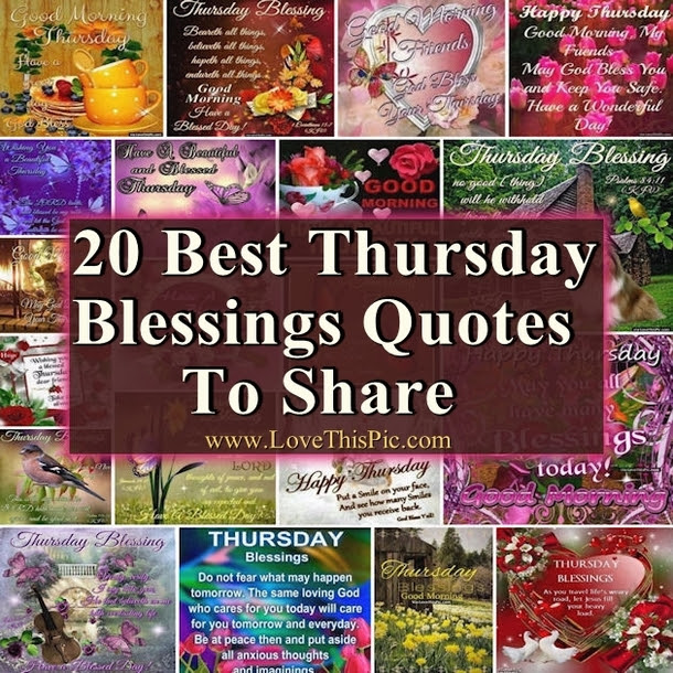 20 Best Thursday Blessings Quotes To Share