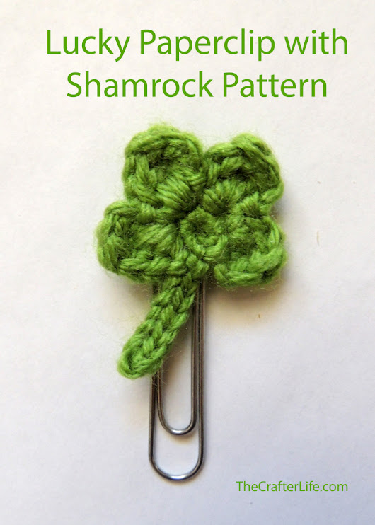 Lucky Paperclip with Shamrock Pattern