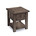 Magnussen Garrett End Table in Weathered Charcoal - T3778-03