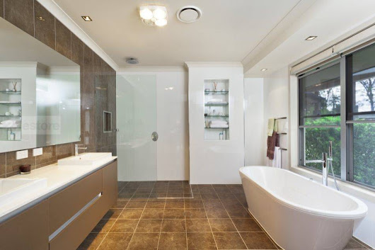 Modern Bathroom Renovation - Ediss Construction & Remodeling