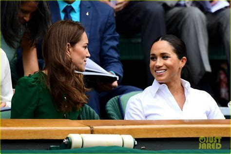 Meghan Markle Attends Wimbledon Final with Kate & Pippa