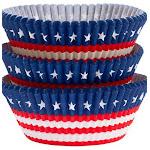Amscan 140041 Patriotic American Flag Baking Cups - Pack of 1125