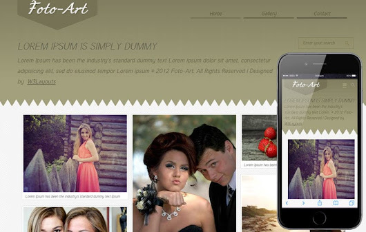 Foto Art Gallery Mobile Website Template by w3layouts