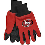 San Francisco 49ers Adult Size Two Tone Gloves
