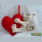 Gattino abbracciato al cuore Tutorial