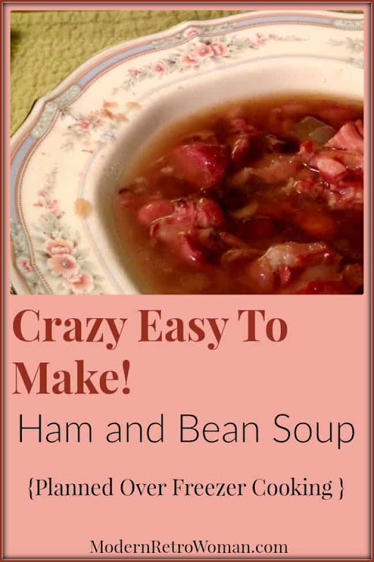 Crazy Easy Ham and Bean Soup (Freezes Well, Too!)