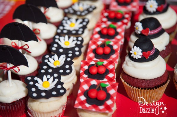 Mary Poppin Themed Cupcakes - Design Dazzle