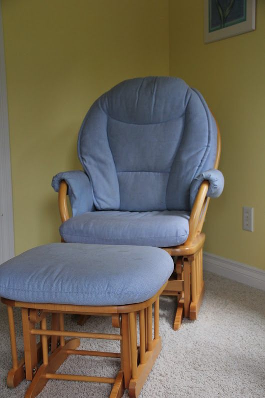 A Slipcovered Rocking Chair