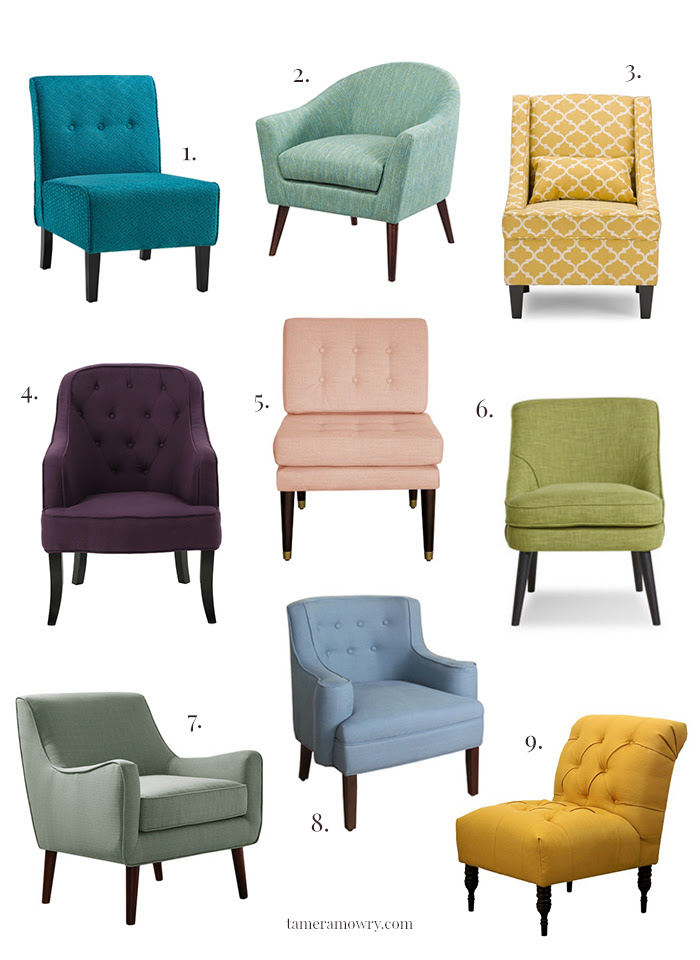 Colorful Accent Chairs Under $300  Tamera Mowry