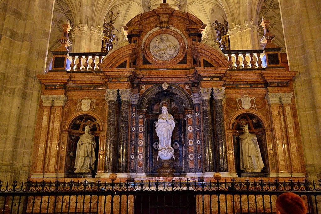 Алтарь в Кафедральном соборе. Альмерия..JPG