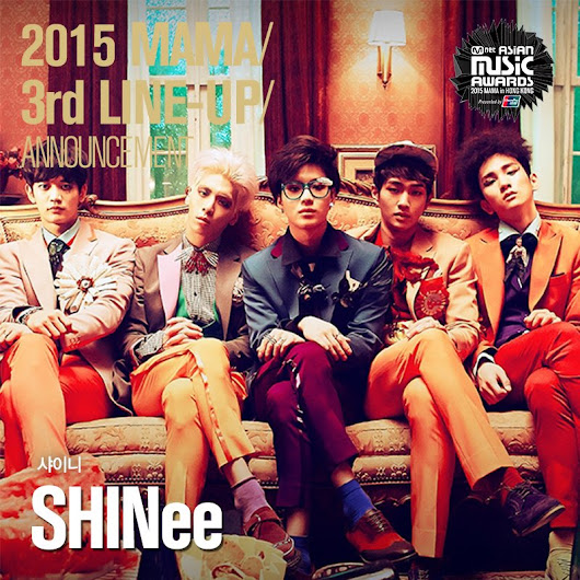 "MAMA(엠넷아시안뮤직어워즈) on Twitter: ""[#2015MAMA] #SHINee is coming to 2015 MAMA. Can't wait to see them in Hong Kong!  #Mnet #UnionPay """