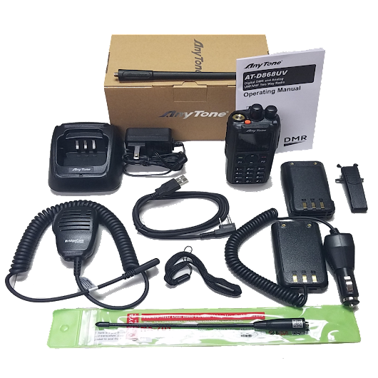 BridgeCom Systems AnyTone AT-D868UV Dual Band DMR Handheld + Accessories Giveaway!