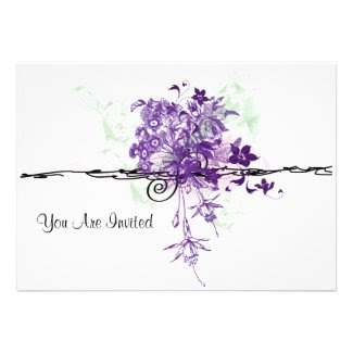 Abstract Bouquet You Are Invited Invitations