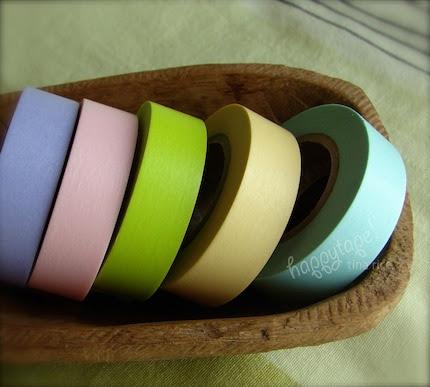 happytape. happy spring colored set. japanese masking tape multi.pak 5