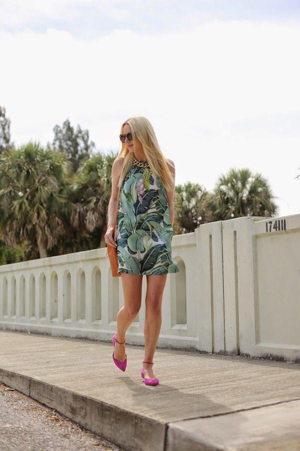 Atlantic-Pacific: party palm - Just Cavalli dress