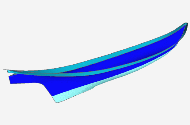Coast Salish canoe 3D by Bryan Hansell