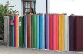 pencil crayon fence