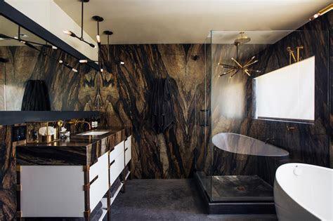 eye catching master bathroom  earthy  glam hgtv