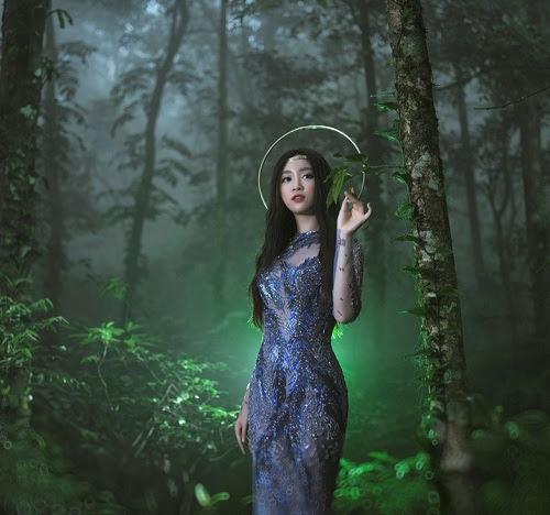 HH Mỹ Linh e ấp thềm ngực với gam pastel, váy nhìn thấu - 7