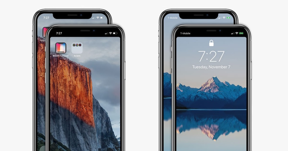 Iphone X Notch Wallpaper App Notch Remover Allow You To Hide Iphone X S Notch On The