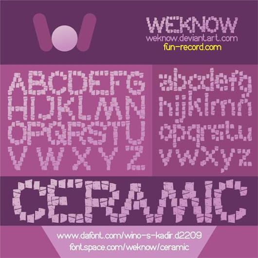 CERAMIC font by weknow - FontSpace