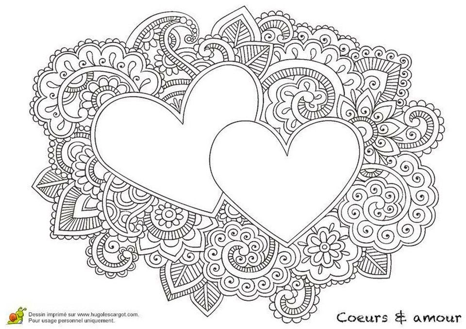 20+ Free Printable Love Coloring Pages for Adults ...