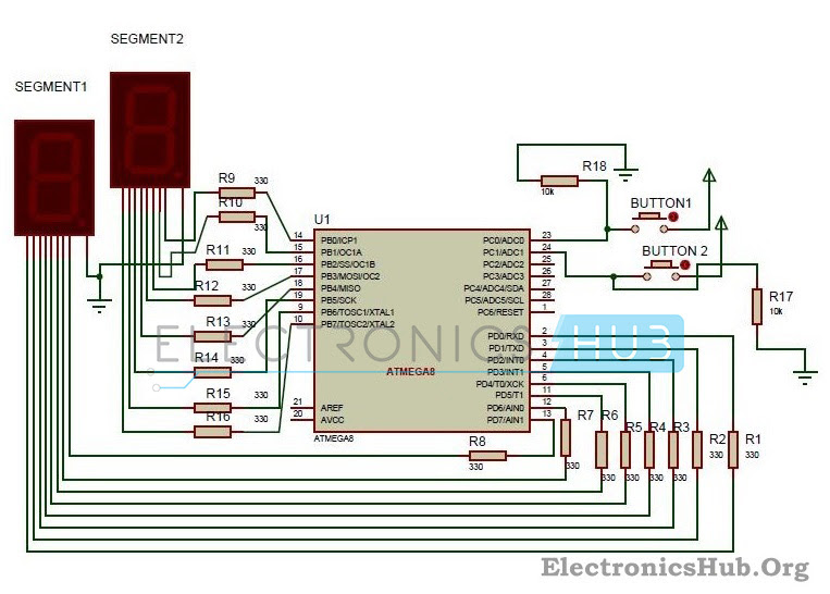 7493 counter circuit diagram 0 99 counter circuit diagram my world my rules: 2 digit up/down counter circuit