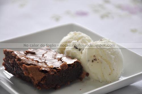 Traditional brownie com gelato de stracciatella