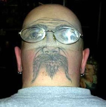 tattoos on head. ever see with tattoos, but
