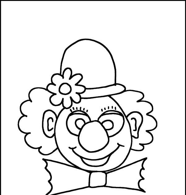 clown gratis ausmalbilder zum ausdrucken - simple coloring