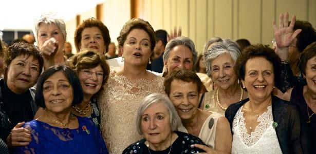 Dilma reencontra ex-companheiras da Torre das Donzelas durante a posse de seu segundo mandato
