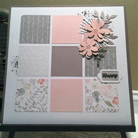 CTMH Charlotte single page layout with Ink Blot (D1660