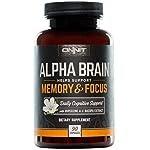 ONNIT Alpha Brain (90ct) – Over 1 Million Bottles Sold – Premium Nootropic Brain Supplement – Focus, Concentration & Memory – Alpha GPC, L Theanine & Bacopa Monnieri